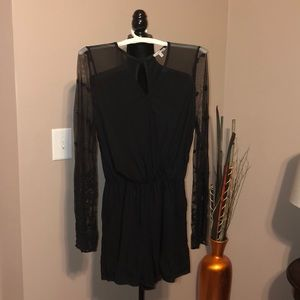 Black Bell sleeve Romper